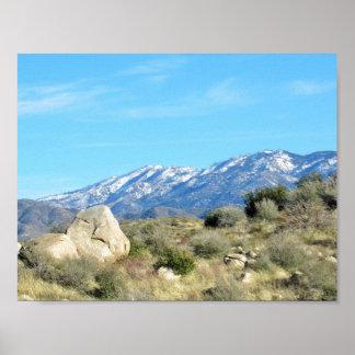 Snow In the San Bernardino Mountains Poster