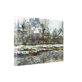 Snow in Vetheuil by Claude Monet Gallery Wrap Canvas