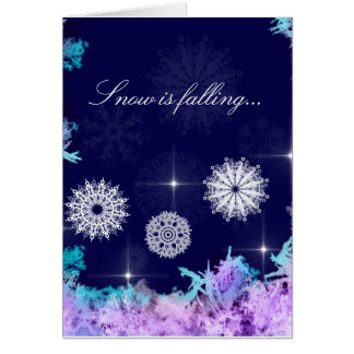 Snow is falling... greeting card