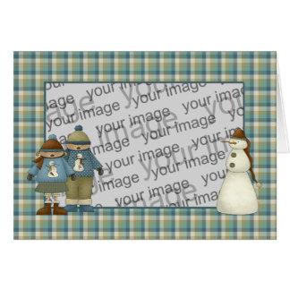 Snow Kids Christmas Card
