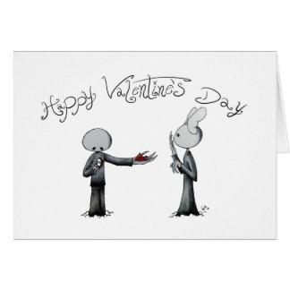 Snow Kids Valentine Note Card