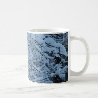 Snow Laden Branches Basic White Mug