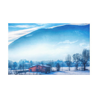 Snow Landscape Gallery Wrapped Canvas