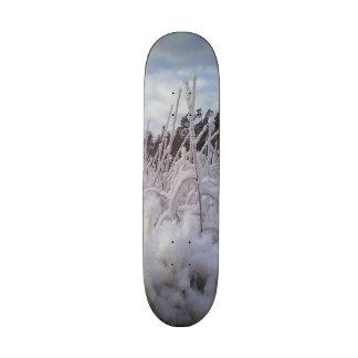 snow landscape skate board deck