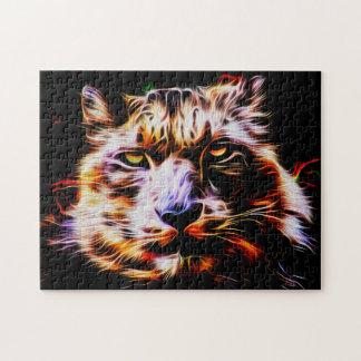 Snow Leopard 01 Digital Art - Photo Puzzle