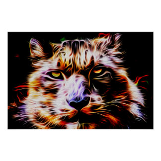 Snow Leopard 01 - Digital Art Poster