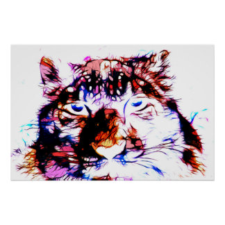 Snow Leopard 02 - Digital Art Poster