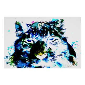 Snow Leopard 03 - Digital Art Poster