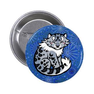 Snow Leopard 6 Cm Round Badge