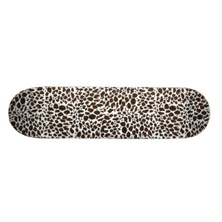 Snow Leopard Animal Print Skateboard