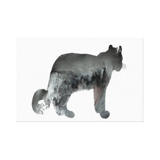Snow leopard art canvas print