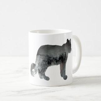 Snow leopard art coffee mug