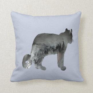 Snow leopard art cushion