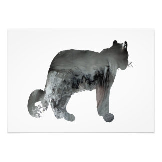Snow leopard art photo print