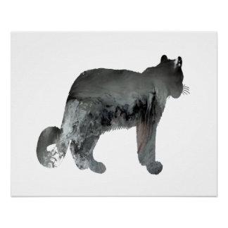 Snow leopard art poster