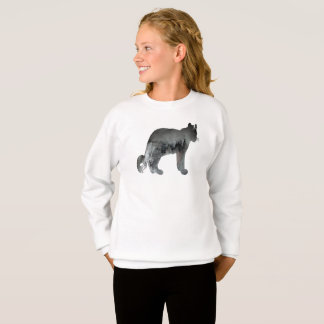 Snow leopard art sweatshirt