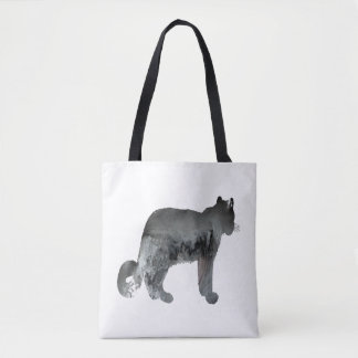 Snow leopard art tote bag