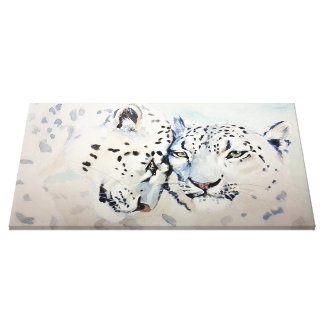 Snow leopard as canvas picture