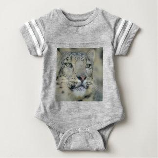snow leopard baby bodysuit