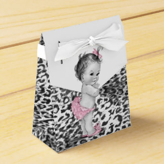 Snow Leopard Baby Shower Favor Boxes