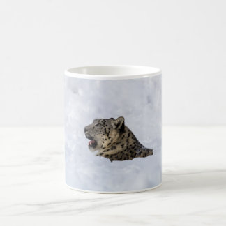 Snow Leopard Buried in Snow Coffee Mug