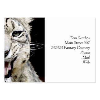 snow leopard large business cards (Pack of 100)