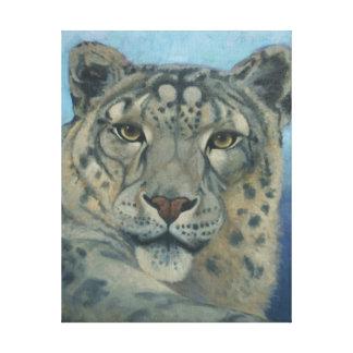 """Snow Leopard"" by Susan Fox Canvas Print"