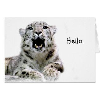Snow Leopard Card