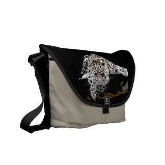Snow Leopard Courier Bag