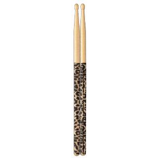 Snow Leopard Custom Animal Print Drumsticks