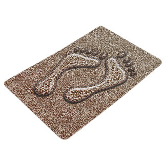 Snow Leopard Feet Floor Mat