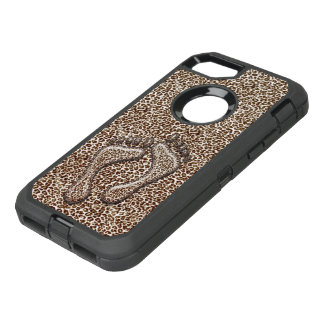 Snow Leopard Feet OtterBox Defender iPhone 8/7 Case