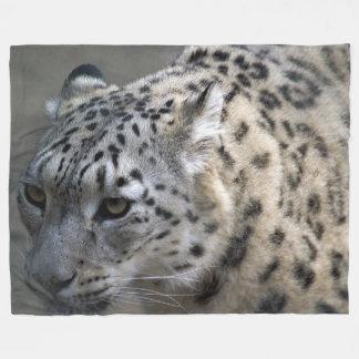 Snow Leopard Fleece Blanket, Large