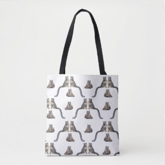 Snow Leopard Frenzy All-Over-Print Bag