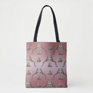 Snow Leopard Frenzy All-Over-Print Bag (Pink Mix)