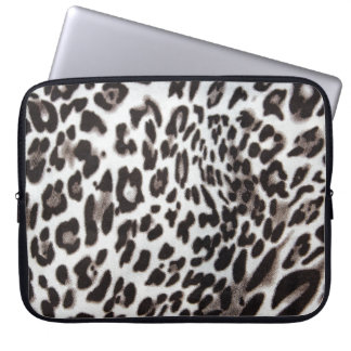 Snow Leopard Fur Laptop Sleeve