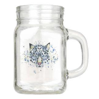 Snow Leopard Jar