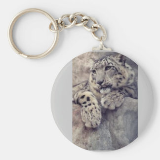 Snow Leopard Key Ring