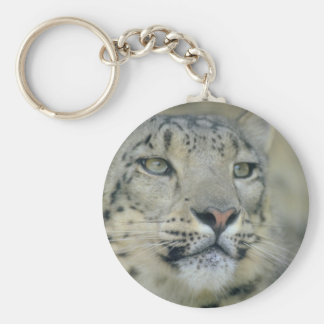 snow leopard key ring