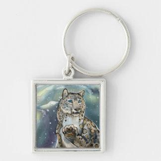 Snow Leopard~ keychain