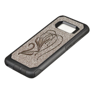 Snow Leopard Lily OtterBox Commuter Samsung Galaxy S8 Case