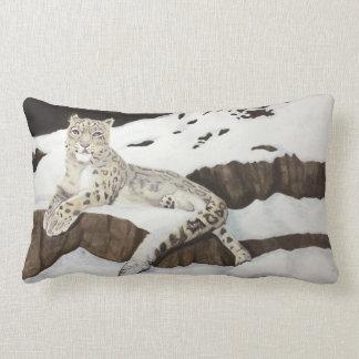 Snow Leopard Lumbar Cushion