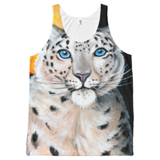 Snow Leopard Moon All-Over Print Singlet