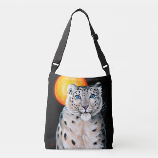 Snow Leopard Moon Crossbody Bag