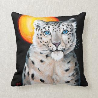 Snow Leopard Moon Cushion