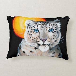 Snow Leopard Moon Decorative Cushion