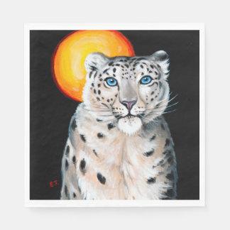 Snow Leopard Moon Disposable Serviettes