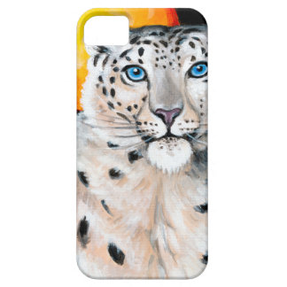 Snow Leopard Moon iPhone 5 Covers