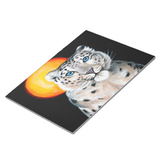 Snow Leopard Moon Notepad