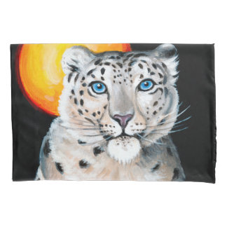 Snow Leopard Moon Pillowcase